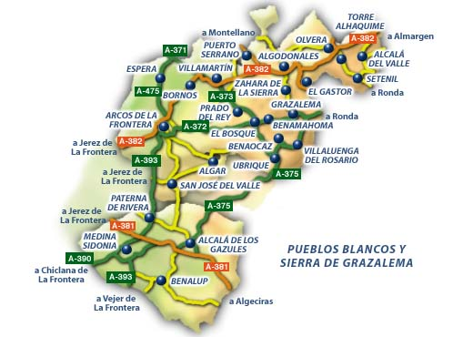Sierra De Grazalema Mapa.P Nat Sierra De Grazalema